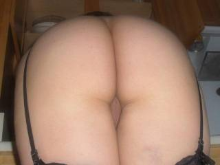 Bending over and getting ready