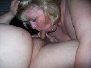 Mrs Daytonhfun sucking on me while her hubby watched