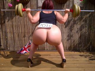 Trying to build my butt muscles. I\'d like to make naked weightlifting an Olympic sport, what do you think?