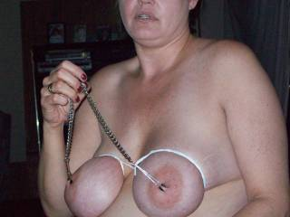 my slave joann doing as she is told, any request,do you like her self torture