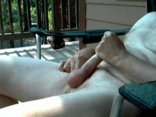 Home alone, time to be outdoors enjoying the great weather, no bugs or distractions, hmmm, lets massage our favorite organ.
