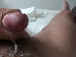 I love it...Yes I love it.....watching you masturbate and cum....like that is so hot.  Look at all that delicious cum....Mmmmm, I know your cock and cum tastes good....I love all your hot cock pictures and your masturbation videos.  Now I have a lot of masturbation material.....Hubby will also enjoy watching me masturbate to your videos and pictures.  Thanks for posting so many of them.