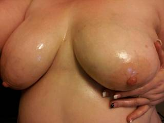 love to slide my cock between your beautiful tits mmm