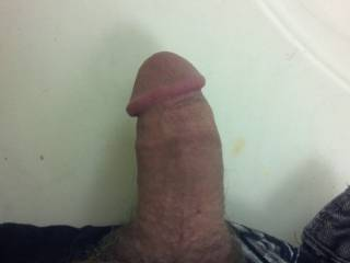 My cock, this is just limp coming out of my pants.