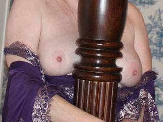 Looking at your lovely hard nipples I think you are really having fun.