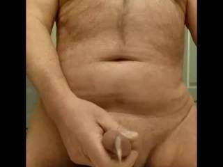 I was so horny. I shot a nice load.  Look at my pics to see how much cum I exploded. I love cumming for you.