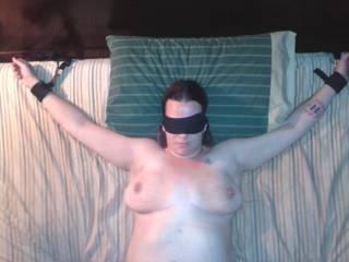 She loves being tied up and blindfolded