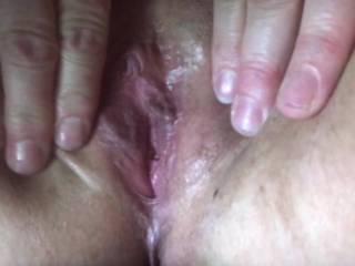 Rubbing my wet pussy