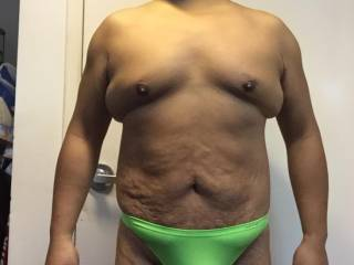 Green thong, underwear, American Outfitters