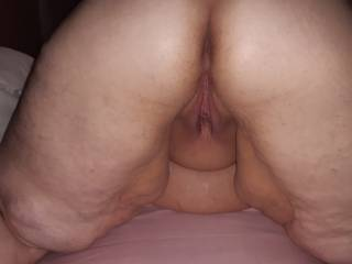 An old pic of a freshly fucked bbw pussy