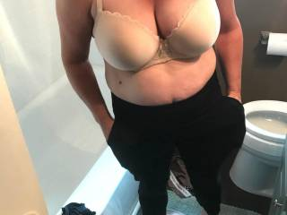 she say\'s ask the guy\'s how the twins look in my new bra..