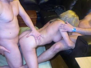 Wife having a 3-some and DV action