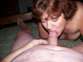 Always love seeing a hot wife like Stacy with a mouthful of cock!