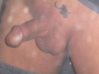 tattoo Oh yes just seen it to busy looking at your cock Both nice mmmmmmmmmm