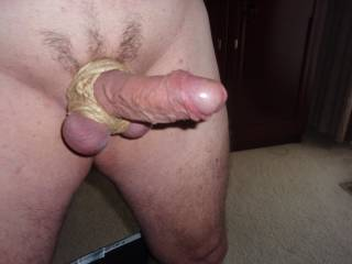 Love tying or restraining my balls.  Nice shave job!