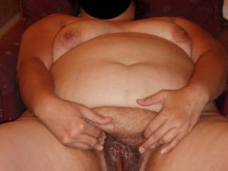 My wife having fun fucking herself as I film and jack off!  Is she fuckable?