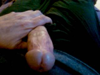 Your delish cock has me hard and precum leaking thru my jeans