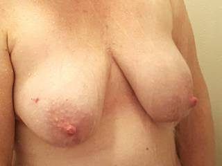 Heavy milk filled tits for you