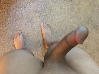 Dick and feet