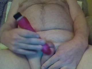 Just like the feel of a vibrator on my cock.