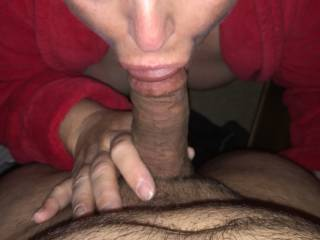 Wife fucking and sucking a co-worker after work then came and fucked me after with her cum filled ass and used pussy