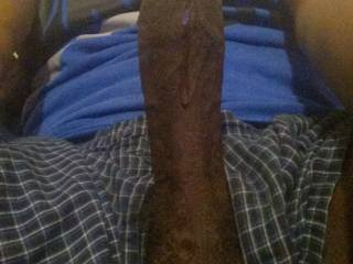 can you see it dripping down my hard black cock?