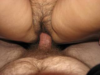 mmm that looks great nice hairy pussy