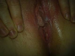 mmm would so love to eat that wet pussy i have a tounge ring hehehe