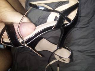 I love to fuck my wife shoes, the smell is just amazing, after a long day. i just love heels, stockings and feet