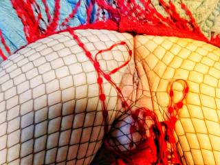 Another pussy shot in my fishnets