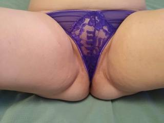 Mrs. Truck 89 got some new panties. Very sexy who wants to help her get them drenched in her luscious pussy juices?