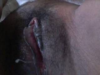 I like to see my wife masturbating with a big and long eggplant deep inside and  get creampie
