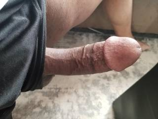 Look what just fell out of my shorts. You sexy women think I should put him away or do you have any other ideas?