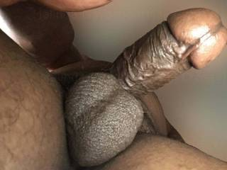 (Not a photo of me) just an example of the kind of view I would love to have on a regular basis, me looking up at such a gorgeous specimen of a black cock and balls before I put my mouth on it and start sucking and finally milking all the cum out of it