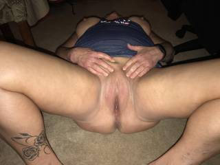 57yo old chubby wife big tits smooth pussy
