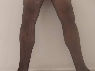 Just bought a new pair of fishnet stockings and tried them 🤪