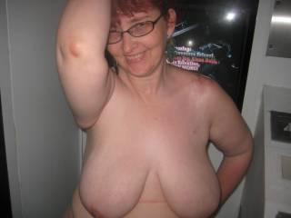 start fucking her ass hard while fisting her wet cunt. then make her lick my ass hole as i jack off on her tits.mmmmm