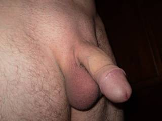 Have to say nice big fat uncut cock. Love to see that big head just inside her sweet thick pussy lips.