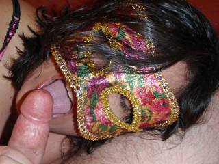 Licking the head of hubby\'s cock drives him wild!