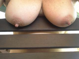 what a sexy pair of breasts, would love to lick and suck your sexy hard nipples then fuck your wet tits with my big thick shaved cock til I moan and cum hard on you ...
