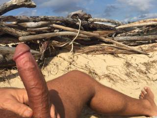 Getting hard at the beach