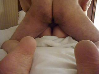 Having my Partner balls deep fucking me silly.  I love the feel of his cock as he throbs and fills me.  We fit so well together.  You get to figure out which Partner is drilling my pussy!