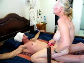 love it when lyou get close to cumming and then drop the vibrater and just fuck the hell out of him groaning in pleassure good for you guys keep more like that cumming what a turn on seeing a woman take charge and have a massive orgasm