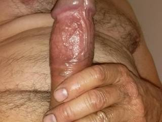 Just been enjoying working at the beautiful ladies here ready for a shower getting oiled up anyone like to join me? What would you like to do with my cock?