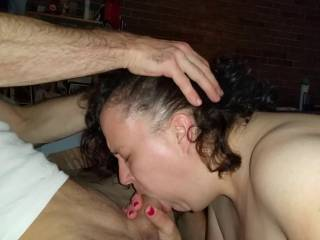 This guy rams the fat cock down Nadja's throat.