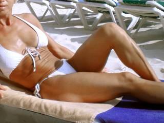Don\'t pass me by on a beach in bikini...