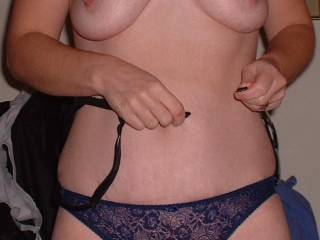 leave those sweet breasts out and lets play.....