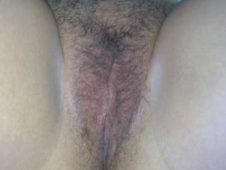 This was her pussy just before she let me shave her for the first time. She'd trimmed in the past but had never had it all smooth before.