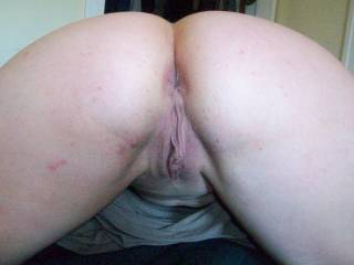 I would love to come from behind and squeeze your tits and shove my thick black cock inside your tight cute ass!
