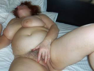 I'd be rubbing my cock all over those big tits.